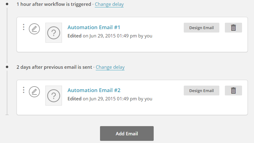 email educazionali automazioni mailchimp