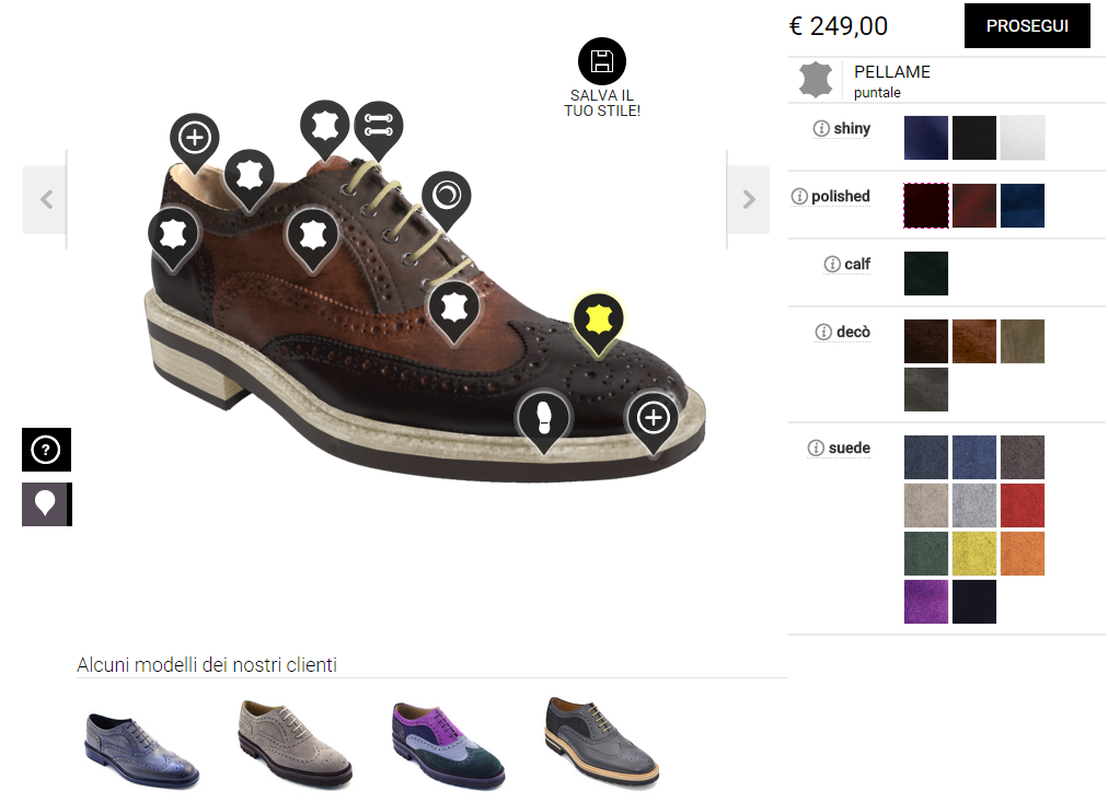 design_italian_shoes1 personalizzazione ecommerce gamification