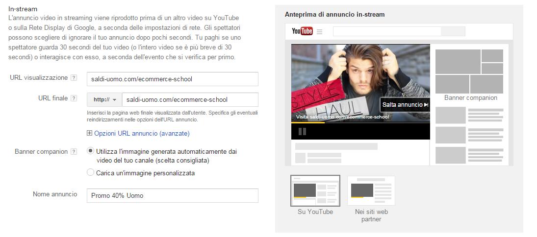 remarketing su youtube