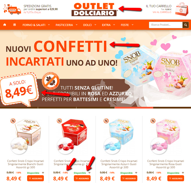 marketing e color outlet dolci