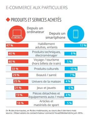 ecommerce in francia rapporto 2016 percentuali per consumi