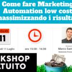 Come fare Marketing Automation con software low cost massimizzando i risultati